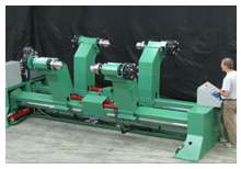 Model DU Dual Roll shaftless paper unwind machine
